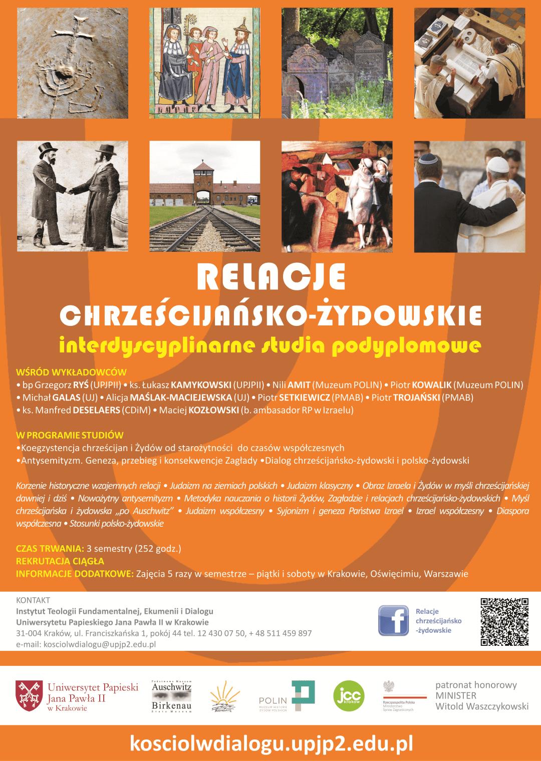 plakat-relacje-chrzescijansko-zydoskie-studia-podyplomowe